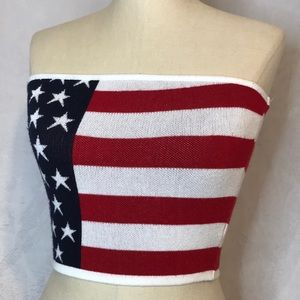Windsor Stars and Stripes Tube Top size M